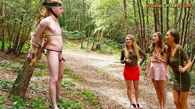 Порно в парке нд